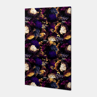 Miniatur melancholy flowers small seamless pattern 01 late sunset Canvas, Live Heroes