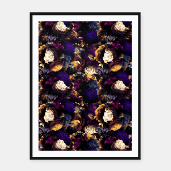 Miniatur melancholy flowers small seamless pattern 01 late sunset Framed poster, Live Heroes