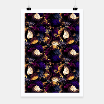 Miniaturka melancholy flowers small seamless pattern 01 late sunset Poster, Live Heroes
