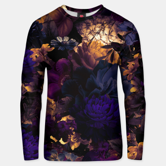 Miniatur melancholy flowers big seamless pattern 01 late sunset Unisex sweater, Live Heroes