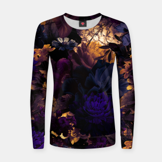 Thumbnail image of melancholy flowers big seamless pattern 01 late sunset Women sweater, Live Heroes