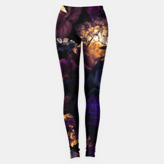 Thumbnail image of melancholy flowers big seamless pattern 01 late sunset Leggings, Live Heroes
