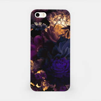 Miniatur melancholy flowers big seamless pattern 01 late sunset iPhone Case, Live Heroes