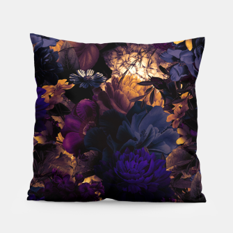 Thumbnail image of melancholy flowers big seamless pattern 01 late sunset Pillow, Live Heroes