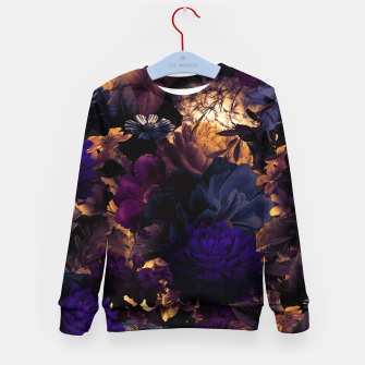Thumbnail image of melancholy flowers big seamless pattern 01 late sunset Kid's sweater, Live Heroes