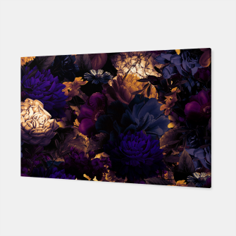 Miniatur melancholy flowers big seamless pattern 01 late sunset Canvas, Live Heroes