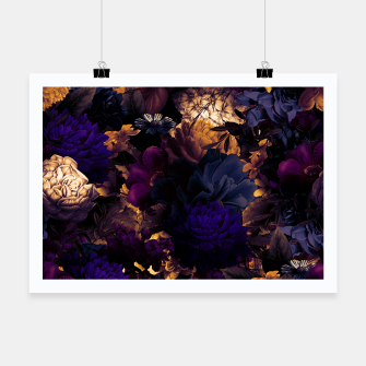 Miniaturka melancholy flowers big seamless pattern 01 late sunset Poster, Live Heroes