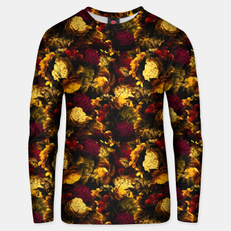 Miniatur melancholy flowers small seamless pattern 01 edgy ember Unisex sweater, Live Heroes