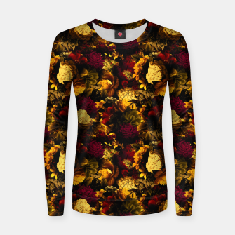 Thumbnail image of melancholy flowers small seamless pattern 01 edgy ember Women sweater, Live Heroes