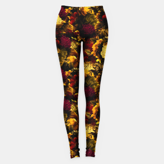 Thumbnail image of melancholy flowers small seamless pattern 01 edgy ember Leggings, Live Heroes