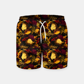 Miniaturka melancholy flowers small seamless pattern 01 edgy ember Swim Shorts, Live Heroes