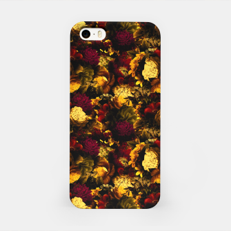 Miniatur melancholy flowers small seamless pattern 01 edgy ember iPhone Case, Live Heroes