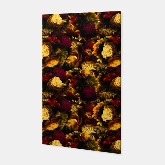 Miniatur melancholy flowers small seamless pattern 01 edgy ember Canvas, Live Heroes