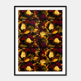 Thumbnail image of melancholy flowers small seamless pattern 01 edgy ember Framed poster, Live Heroes