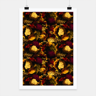 Miniaturka melancholy flowers small seamless pattern 01 edgy ember Poster, Live Heroes