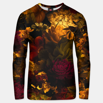 Miniatur melancholy flowers big seamless pattern 01 edgy ember Unisex sweater, Live Heroes