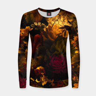 Thumbnail image of melancholy flowers big seamless pattern 01 edgy ember Women sweater, Live Heroes