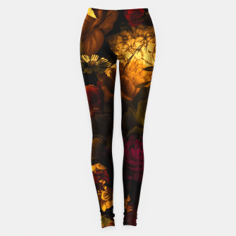 Thumbnail image of melancholy flowers big seamless pattern 01 edgy ember Leggings, Live Heroes