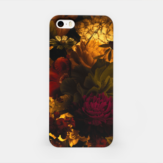 Miniatur melancholy flowers big seamless pattern 01 edgy ember iPhone Case, Live Heroes