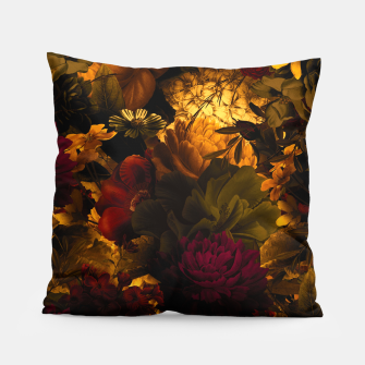 Thumbnail image of melancholy flowers big seamless pattern 01 edgy ember Pillow, Live Heroes