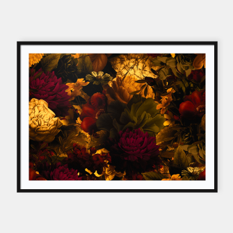 Thumbnail image of melancholy flowers big seamless pattern 01 edgy ember Framed poster, Live Heroes