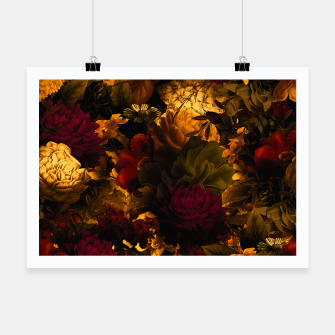 Thumbnail image of melancholy flowers big seamless pattern 01 edgy ember Poster, Live Heroes