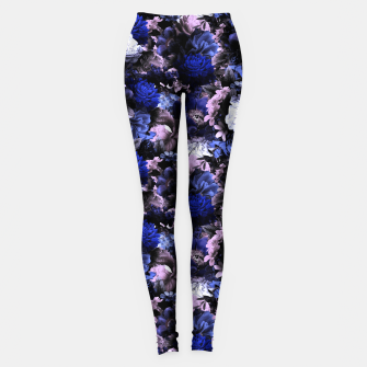 Thumbnail image of melancholy flowers small seamless pattern 01 deep blue Leggings, Live Heroes