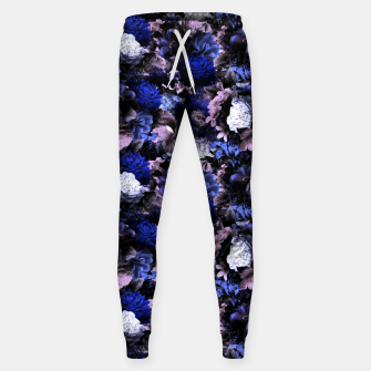 Imagen en miniatura de melancholy flowers small seamless pattern 01 deep blue Sweatpants, Live Heroes