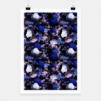 Thumbnail image of melancholy flowers small seamless pattern 01 deep blue Poster, Live Heroes