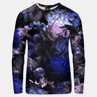 melancholy flowers big seamless pattern 01 deep blue Unisex sweater thumbnail image