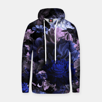 melancholy flowers big seamless pattern 01 deep blue Hoodie thumbnail image