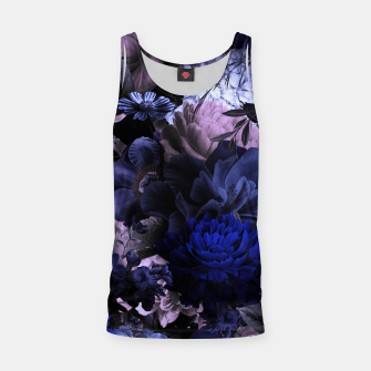 melancholy flowers big seamless pattern 01 deep blue Tank Top thumbnail image