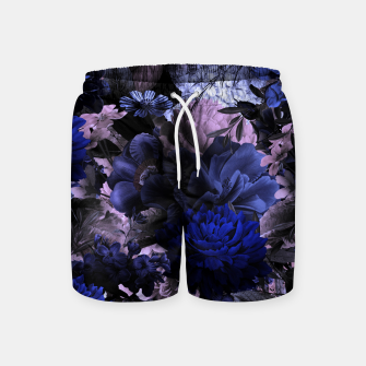 melancholy flowers big seamless pattern 01 deep blue Swim Shorts thumbnail image