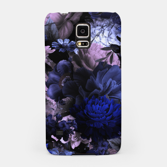 melancholy flowers big seamless pattern 01 deep blue Samsung Case thumbnail image