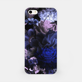 melancholy flowers big seamless pattern 01 deep blue iPhone Case thumbnail image