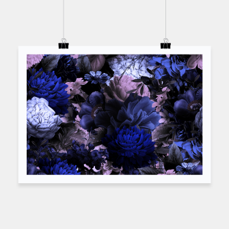 melancholy flowers big seamless pattern 01 deep blue Poster thumbnail image