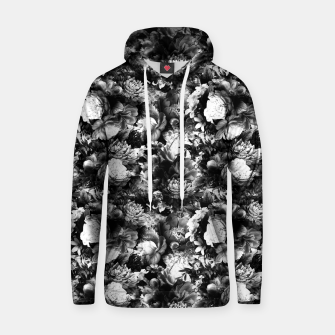 Miniaturka melancholy flowers small seamless pattern 01 black white Hoodie, Live Heroes