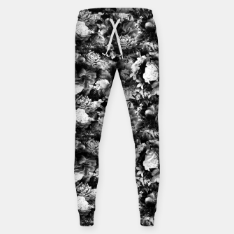 Imagen en miniatura de melancholy flowers small seamless pattern 01 black white Sweatpants, Live Heroes