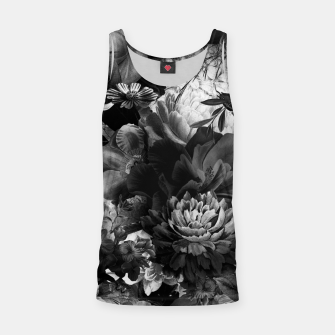 Miniatur melancholy flowers big seamless pattern 01 black white Tank Top, Live Heroes