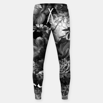 Imagen en miniatura de melancholy flowers big seamless pattern 01 black white Sweatpants, Live Heroes