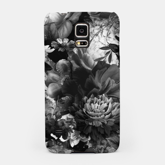 Miniaturka melancholy flowers big seamless pattern 01 black white Samsung Case, Live Heroes