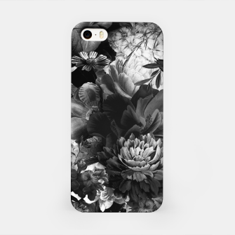 Miniaturka melancholy flowers big seamless pattern 01 black white iPhone Case, Live Heroes
