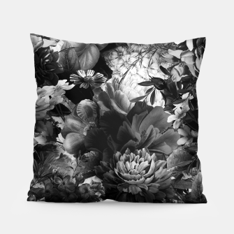 Miniaturka melancholy flowers big seamless pattern 01 black white Pillow, Live Heroes