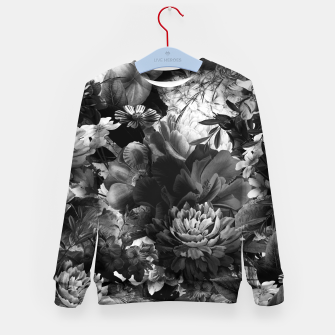 Miniaturka melancholy flowers big seamless pattern 01 black white Kid's sweater, Live Heroes