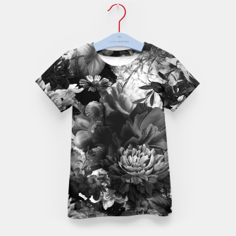 Miniaturka melancholy flowers big seamless pattern 01 black white Kid's t-shirt, Live Heroes