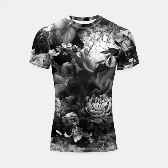 Thumbnail image of melancholy flowers big seamless pattern 01 black white Shortsleeve rashguard, Live Heroes