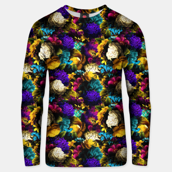 Thumbnail image of melancholy flowers small seamless pattern 01 Unisex sweater, Live Heroes