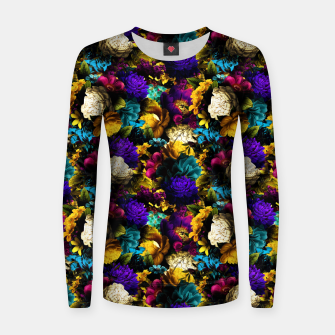Thumbnail image of melancholy flowers small seamless pattern 01 Women sweater, Live Heroes