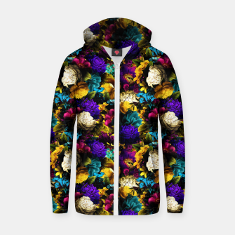 Thumbnail image of melancholy flowers small seamless pattern 01 Zip up hoodie, Live Heroes