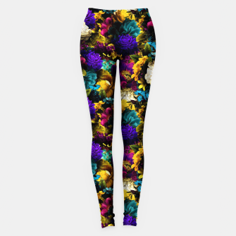 Thumbnail image of melancholy flowers small seamless pattern 01 Leggings, Live Heroes